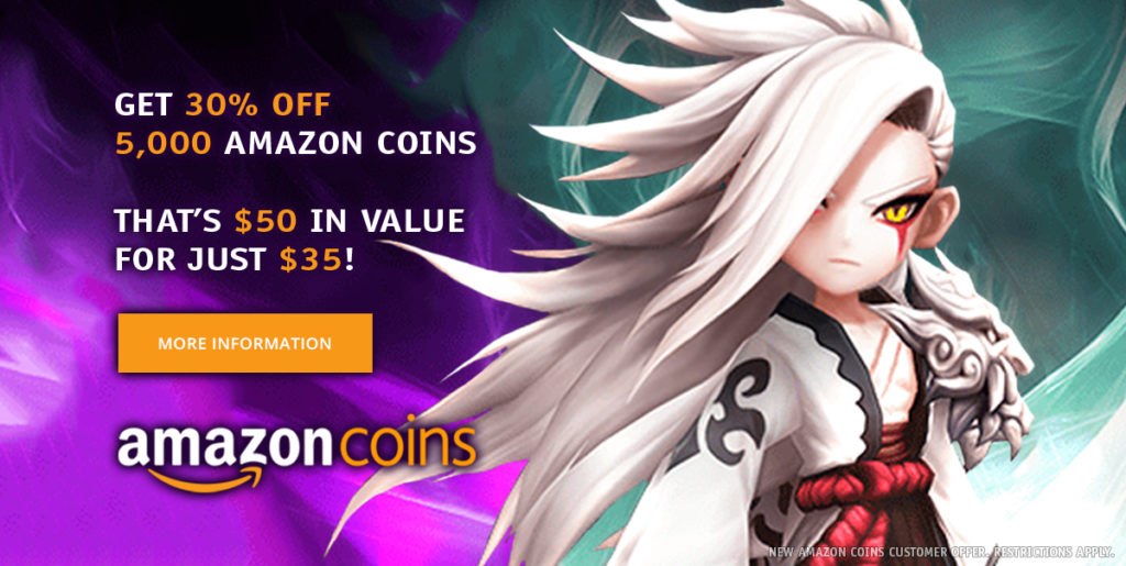 Get 5000 Amazon Coins for 30% Off