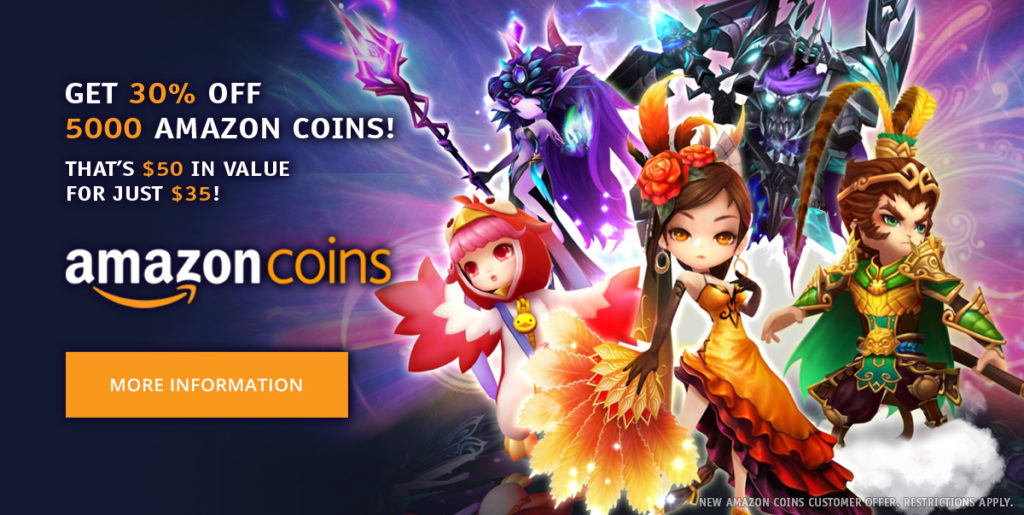 Get 30% Off Amazon Coins!