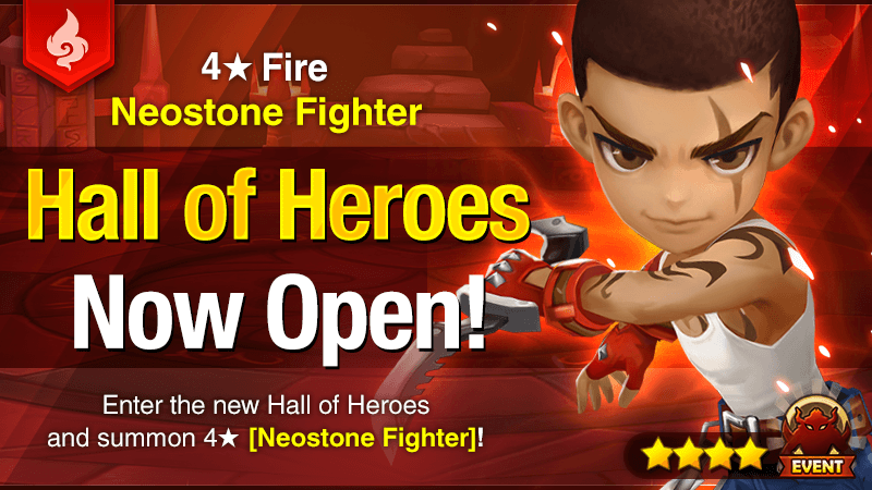 Fire Neostone Fighter (Trevor) april hall of heroes