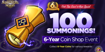 6-Year Special Event No.1! ★100 Summons★ 6-Year Coin Shop Event